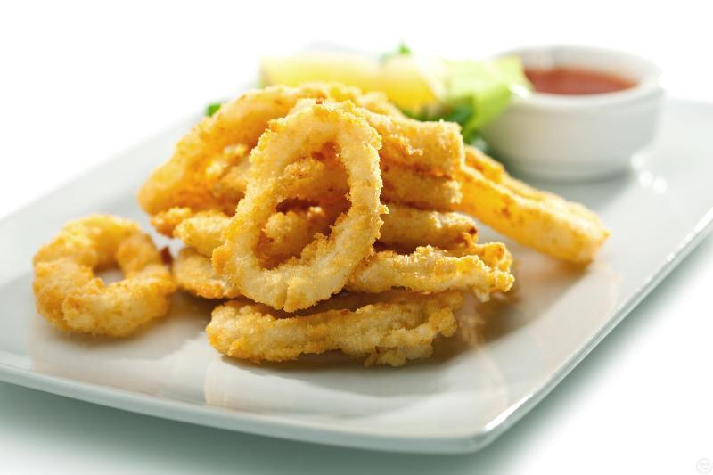16 calamares fritos